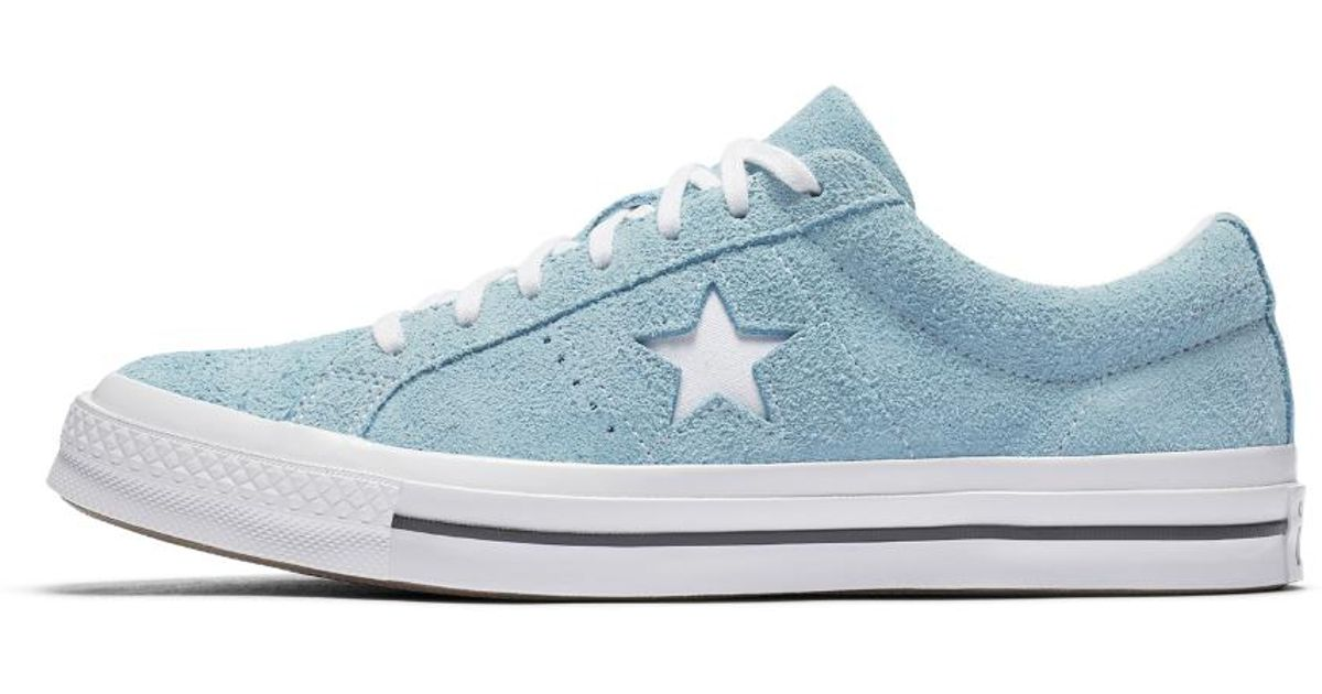 adbe003a9d26 Lyst - Converse One Star Vintage Suede Low Top Men s Shoe in Blue for Men