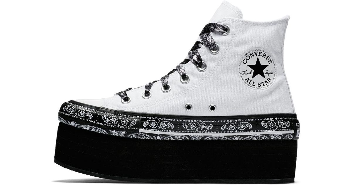 Cyrus X Star White Taylor Chuck Converse Top Miley High Shoe Platform Women's All Lyst kN0OnwP8X
