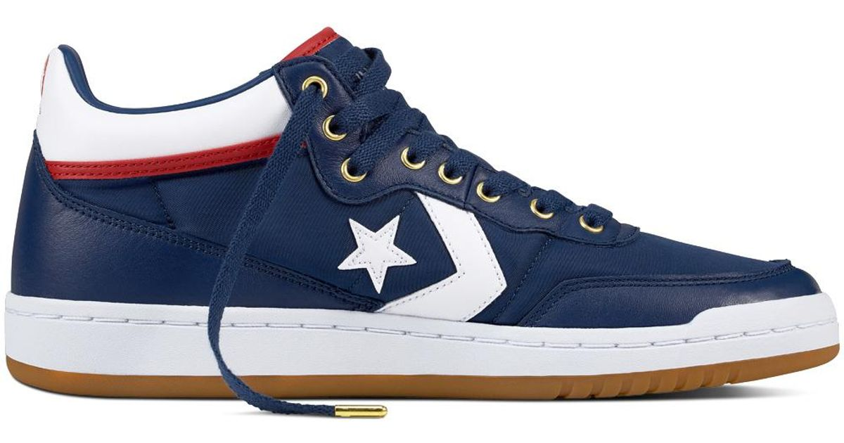 Converse Fastbreak Pro Mid Leather in Blue for Men - Lyst b2925ab7a