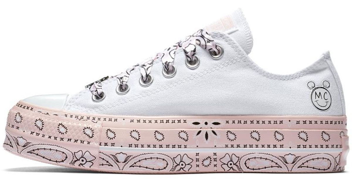 a9b4d17647d364 Lyst - Converse X Miley Cyrus Chuck Taylor All Star Lift Low Top Women s  Shoe in White