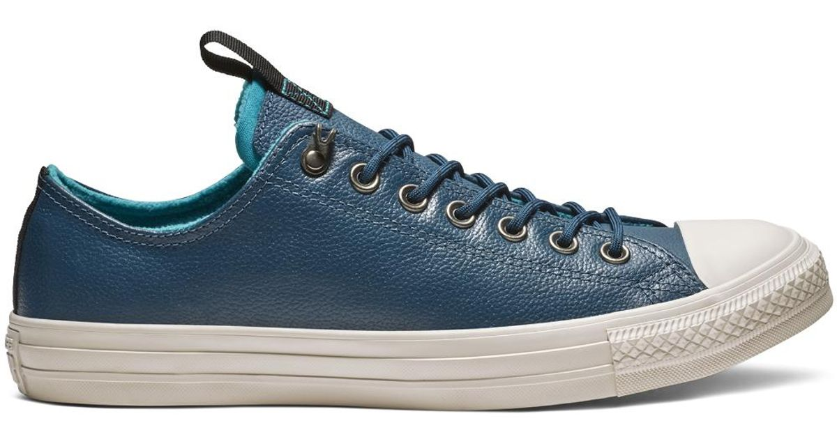 b550b0e5315 Converse Chuck Taylor All Star Desert Storm Leather Low Top in Blue for Men  - Lyst