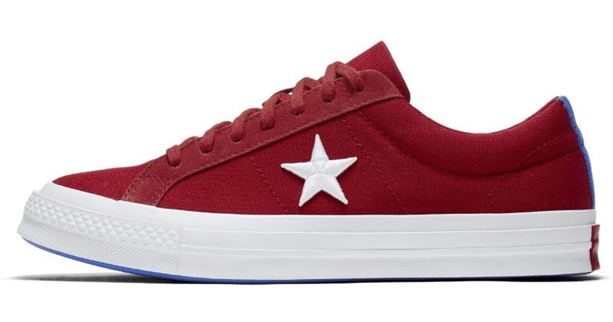 300fe9f80e6 Lyst - Converse One Star Country Pride Canvas Low Top Shoe in Red for Men