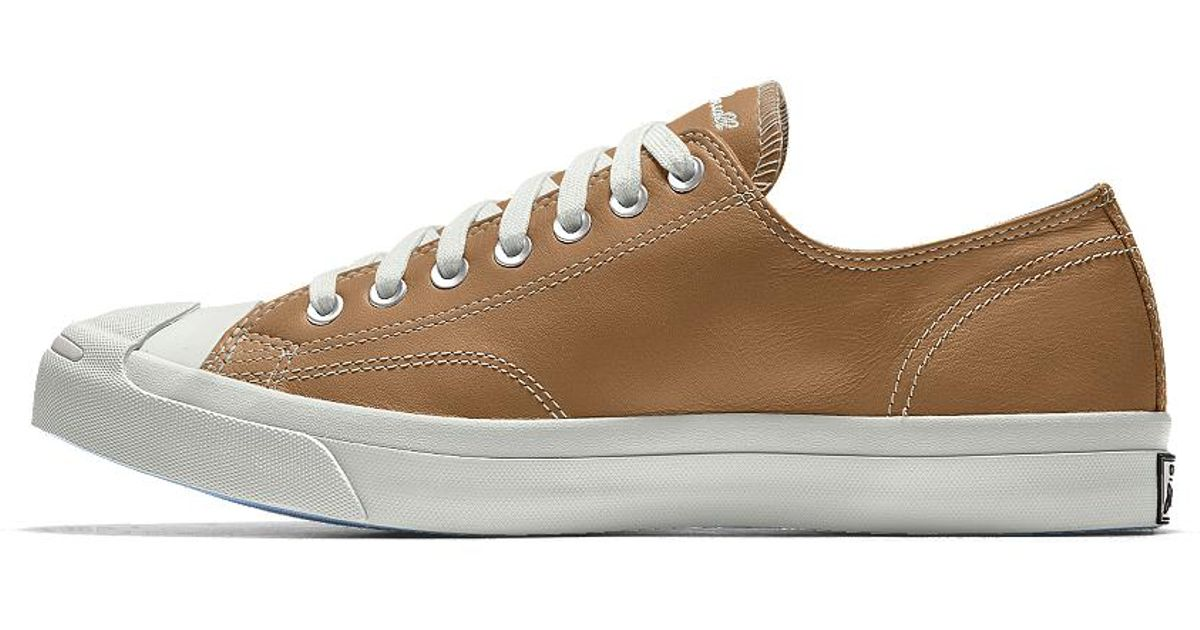 c3a1d8955121 Lyst - Converse Custom Jack Purcell Premium Leather Low Top Shoe in Brown  for Men