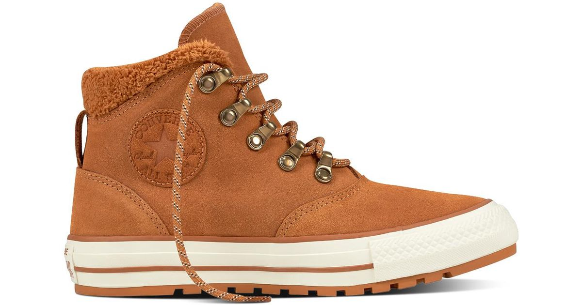 2aee32c55c05 Converse Chuck Taylor All Star Ember Boot Suede And Faux Fur in White - Lyst