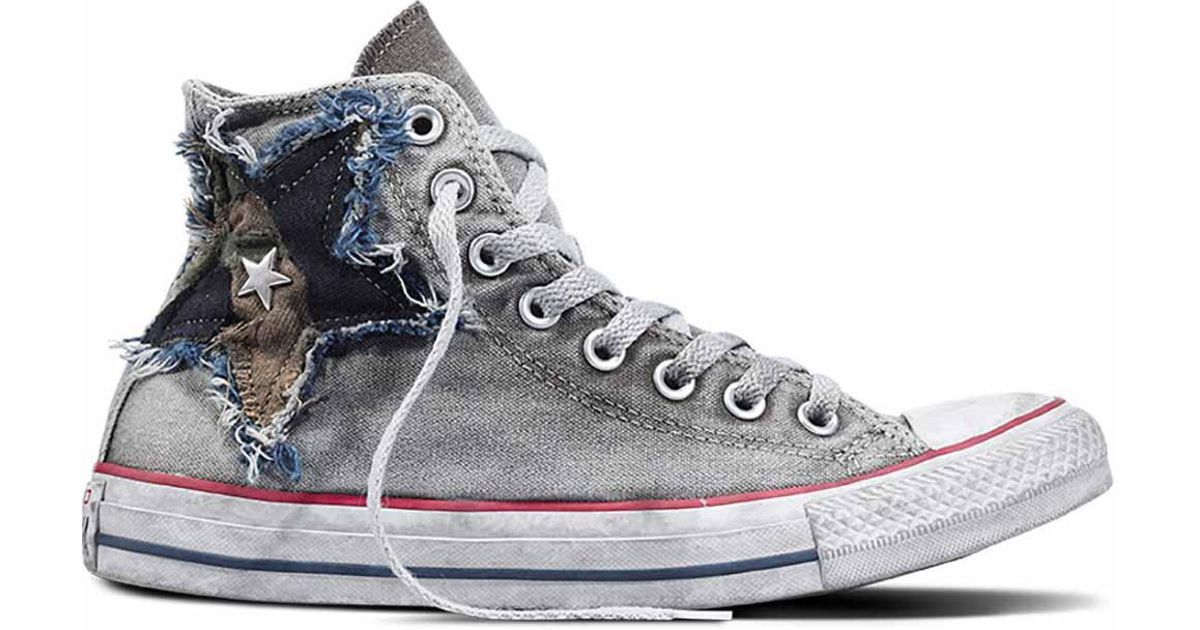 687692e617f Converse Chuck Taylor All Star Vintage Camo Star High Top in Gray for Men -  Lyst