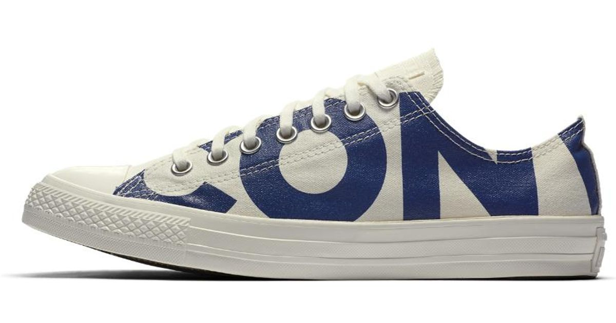b3cdea7a99b Lyst - Converse Chuck Taylor All Star Wordmark Low Top Men s Shoe in White  for Men
