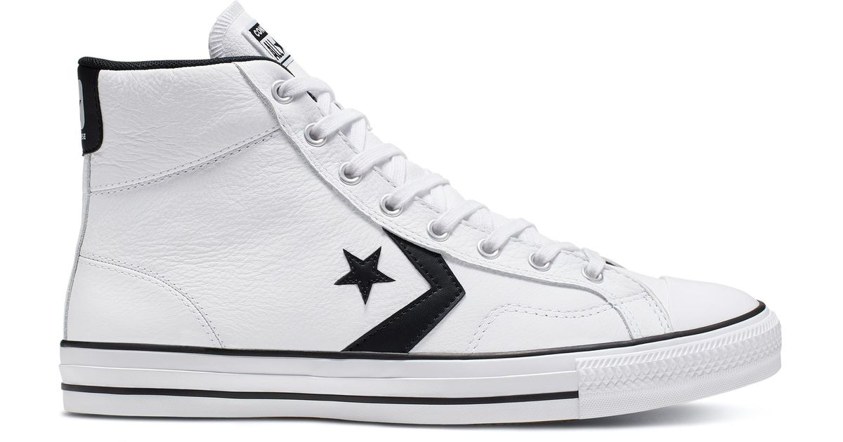 köpa försäljning ganska billigt grossisthandlare Converse Leather Star Player in White for Men - Lyst