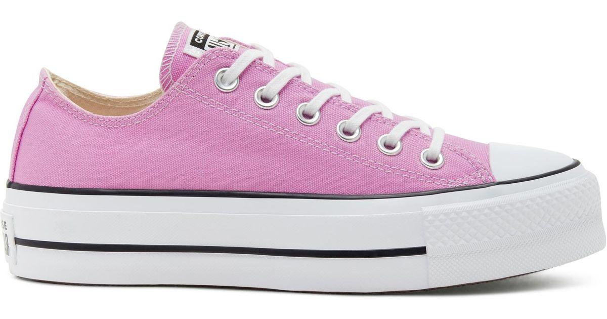 pink converse platforms