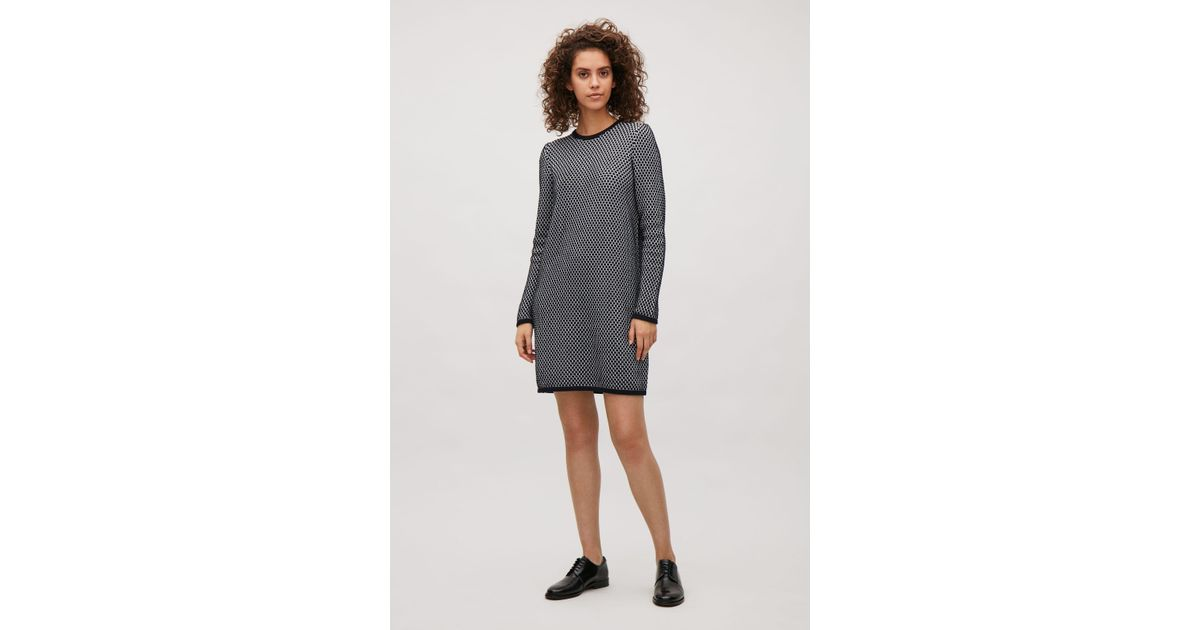 9c134fdd5c78 COS Raised Knit Dress in Blue - Lyst