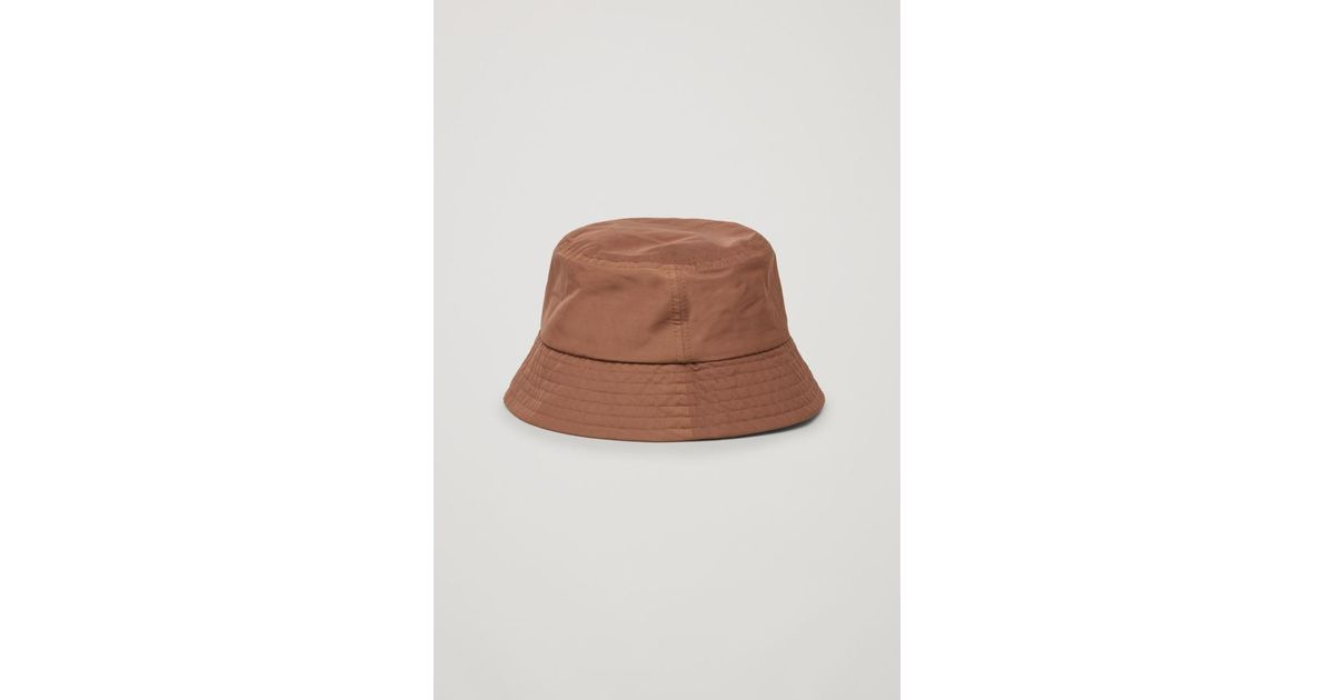Lyst - COS Bucket Hat in Brown 013c5e68d31