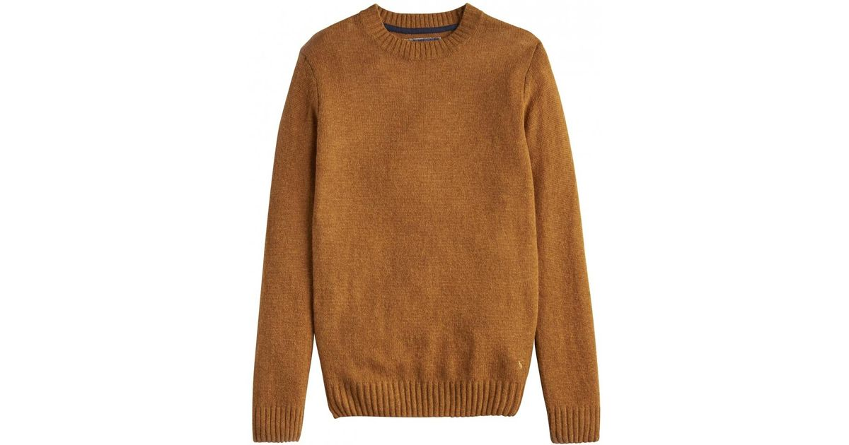 Joules Mens Wooler Super Soft Fluffy Crew Neck Jumper in YELLOW MARL