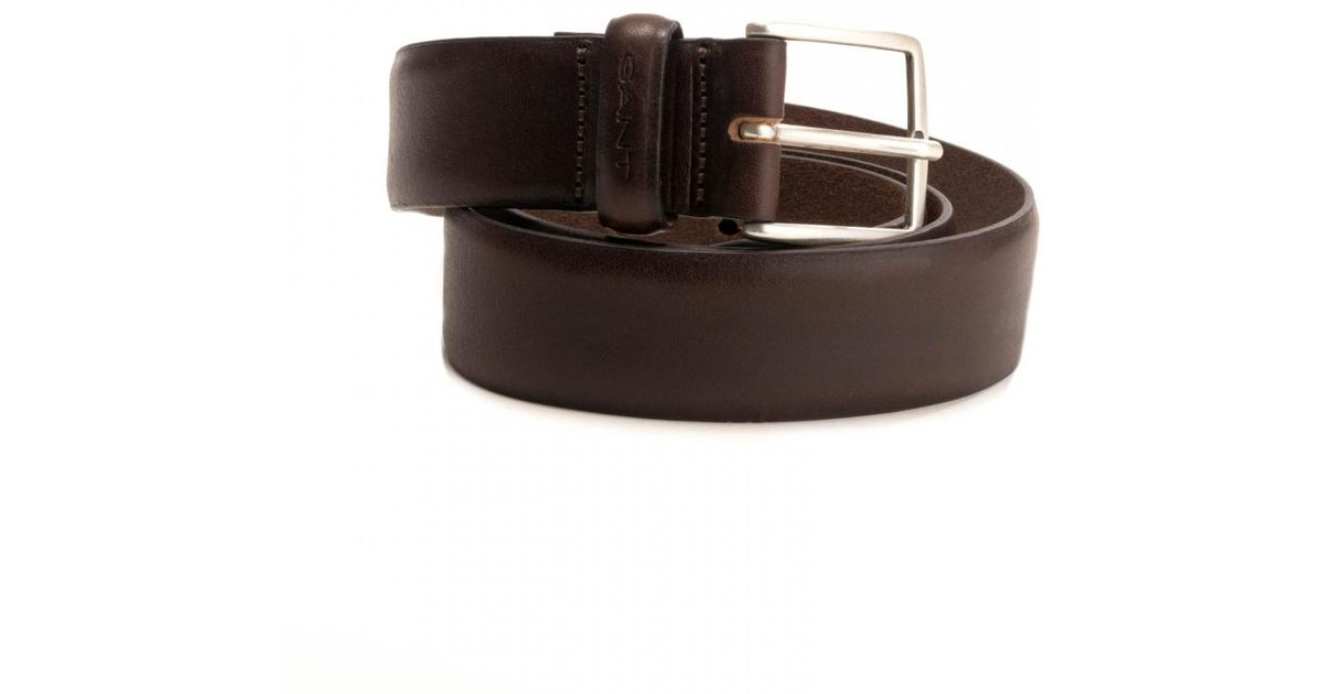 bcf80e7726 GANT Classic Leather Mens Belt in Brown for Men - Lyst