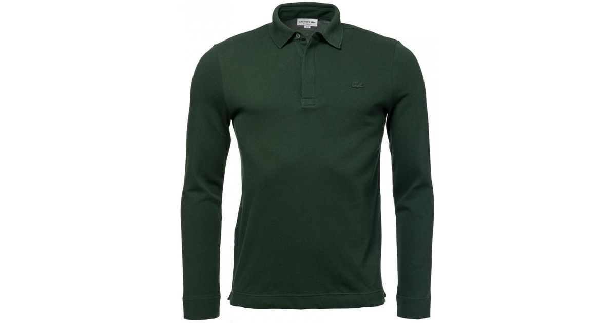 780e3bc6e Lacoste Mens Long Sleeve Polo Shirt in Green for Men - Lyst