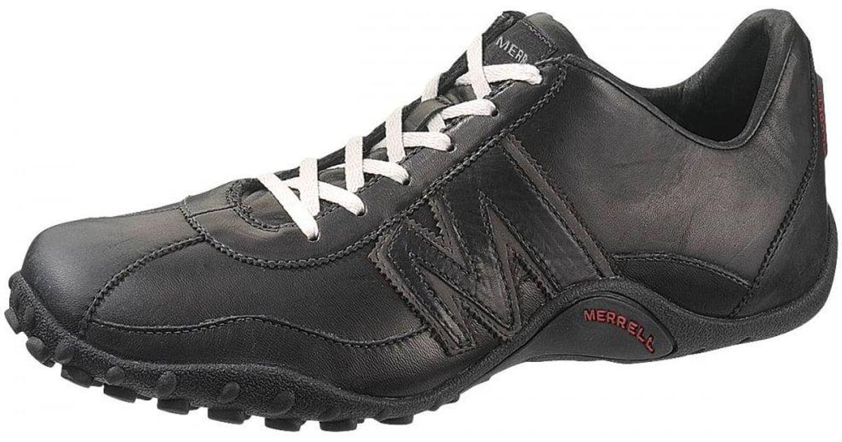 f5cfa94ca7 Merrell Black Sprint Blast Leather Mens Trainers for men