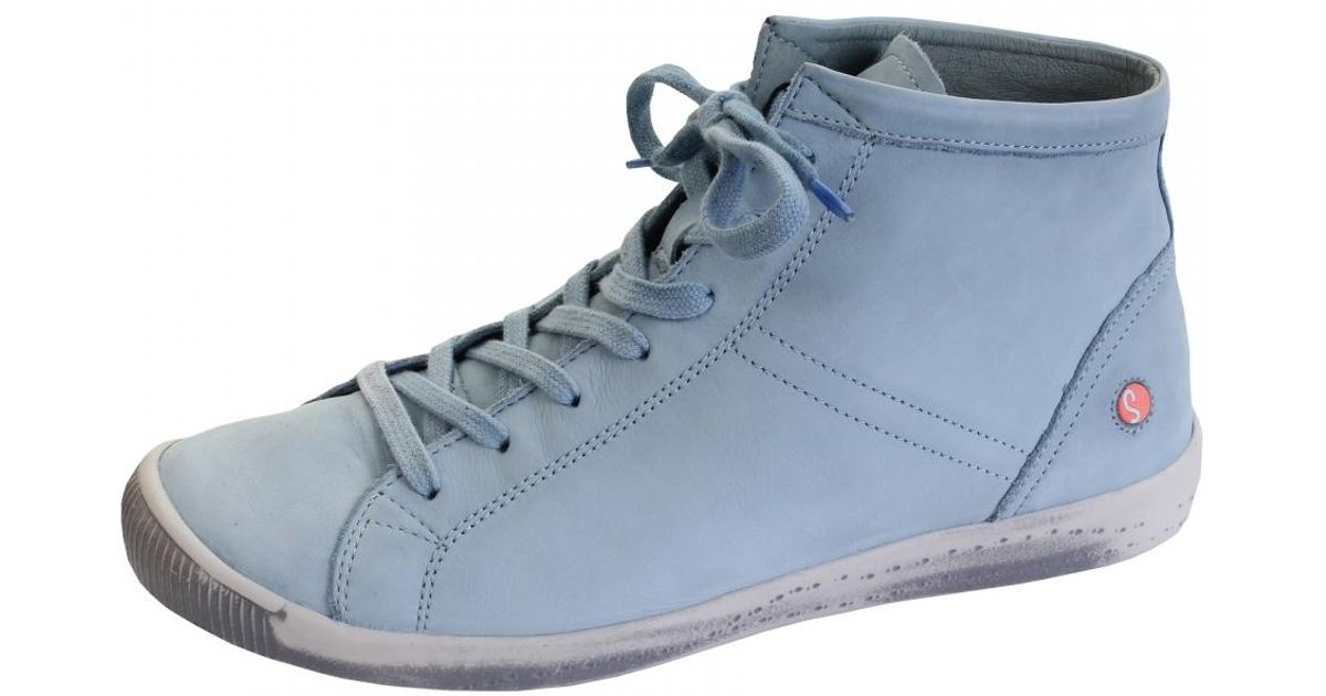 72ebdefbd5b13f Lyst - Softinos Isleen Washed Leather Womens High Top in Blue