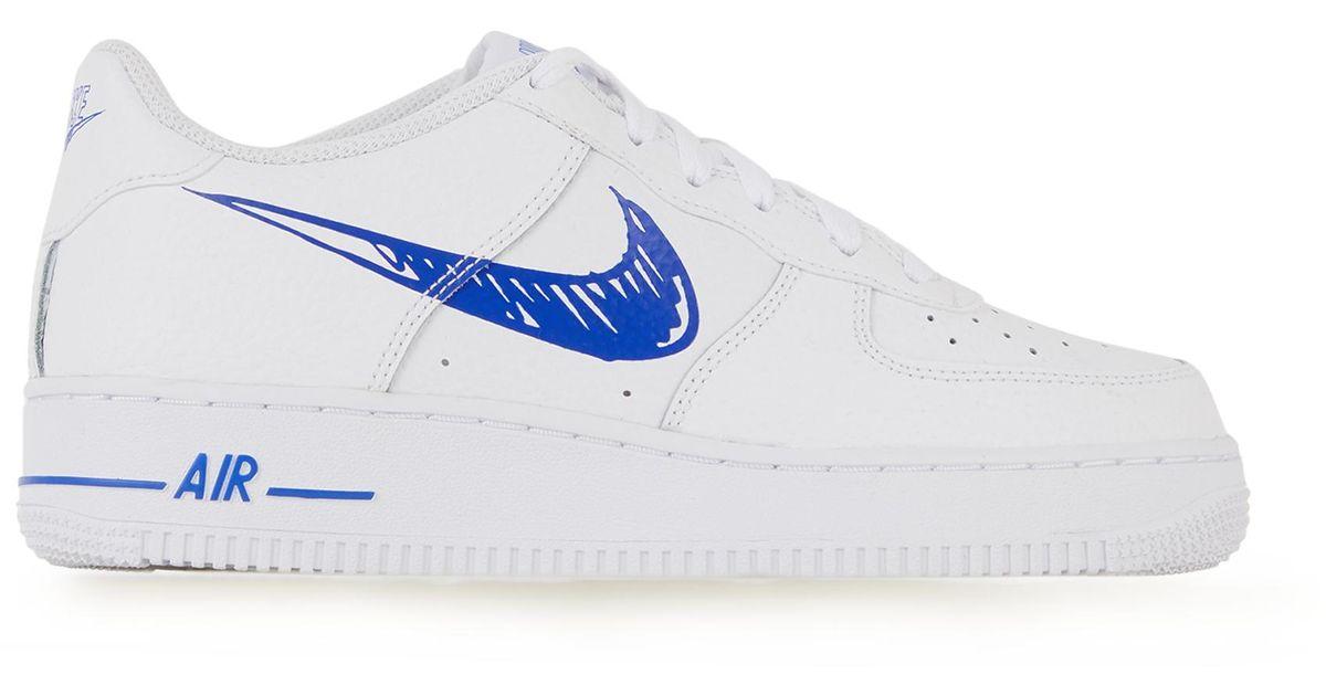 Air force 1 low scribble Nike en coloris Bleu - Lyst