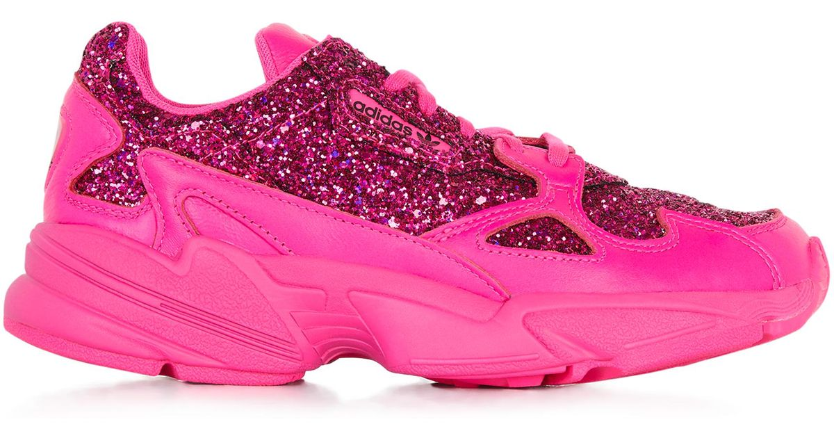 Falcon glitter adidas Originals en coloris Rose Lyst