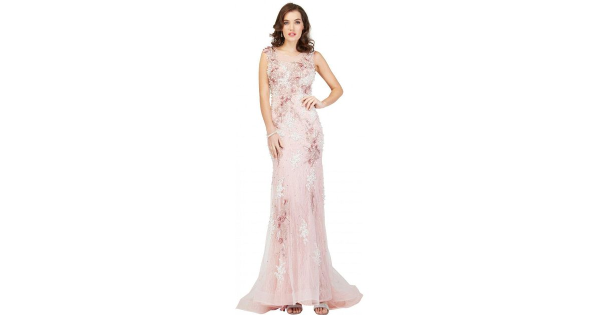 proteggere accuratamente Tavoletta  Cecilia Couture 1401 Embroidered Lace Scoop Trumpet Dress in Dusty Pink  (Pink) - Lyst