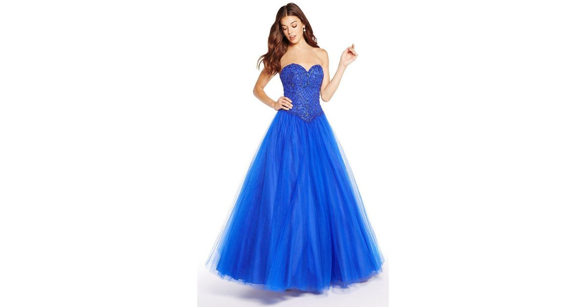 d81ea153896 Lyst - Alyce Paris 60205 Strapless Sweetheart Tulle Ballgown in Blue