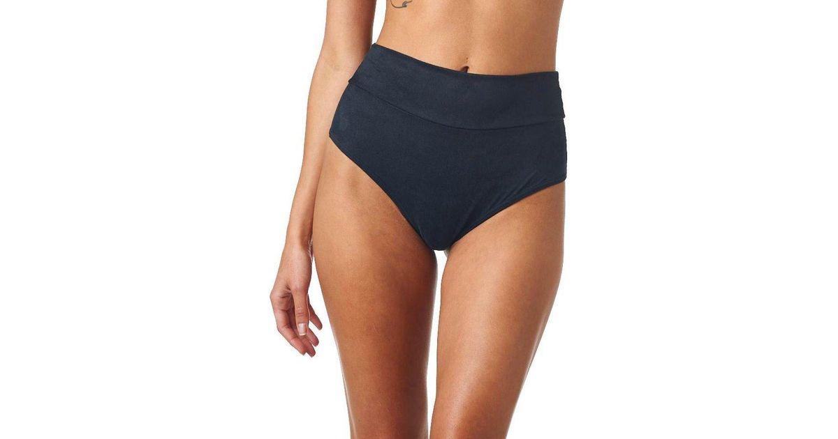 5247adeb860 Lyst - Montce Swim Black Faux Suede Additional Coverage High Rise Bikini  Bottom in Black