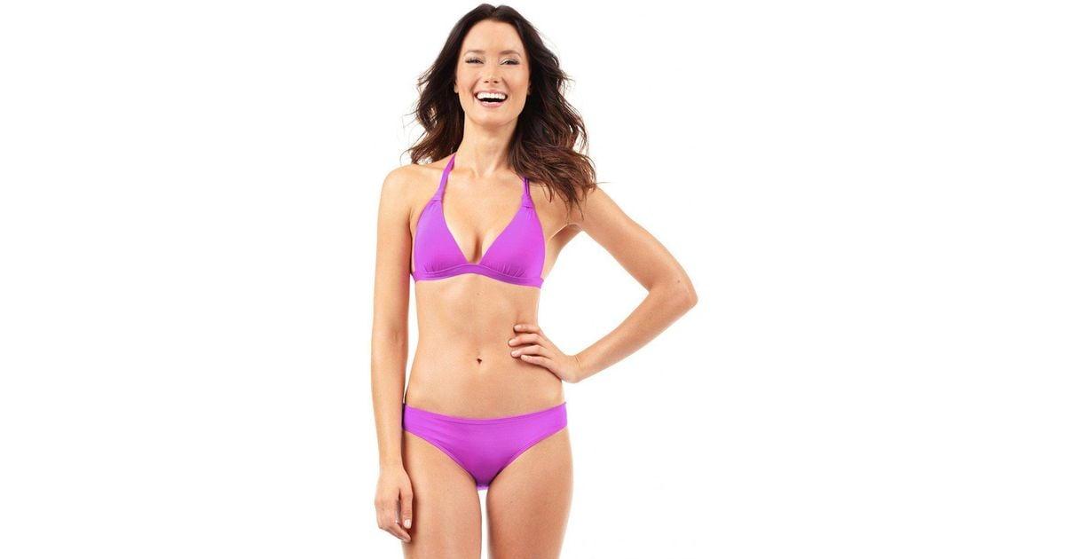6905c5cf707 Lyst - Voda Swim Magenta Envy Push Up Halter Top in Purple