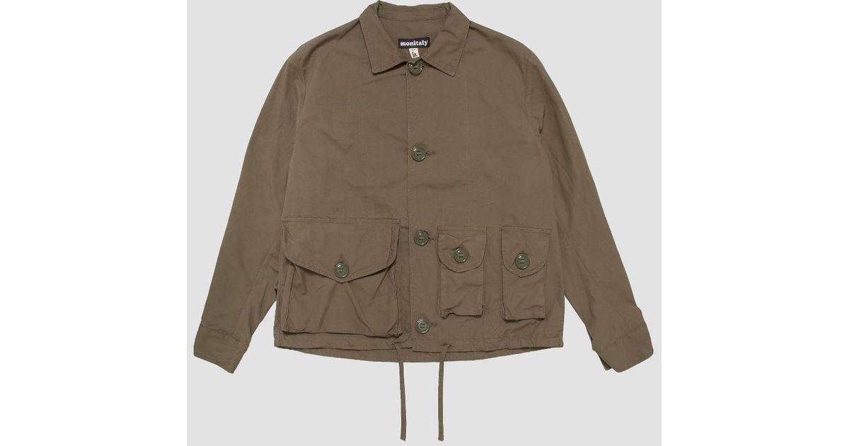 Monitaly Military Service Jacket Type A in Green for Men - Lyst 3e4c77e6e2e