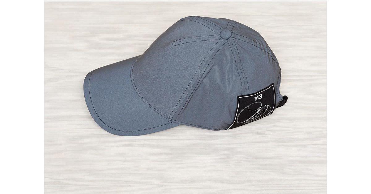b7eb9b59e Y-3 Reflective Grey Reflex Cap in Gray for Men - Lyst