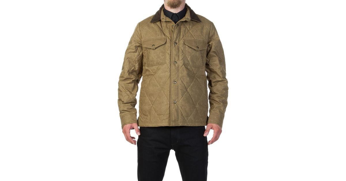 Filson Cotton Hyder Quilted Jac Shirt Tan For Men Lyst