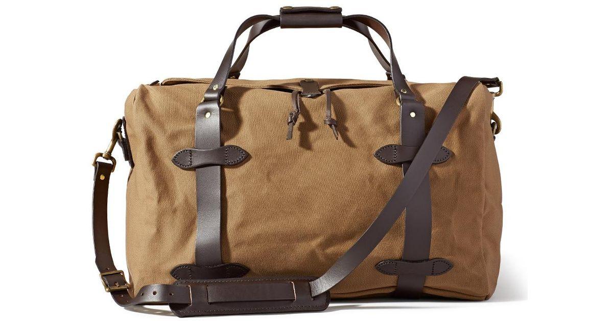 Filson Medium Rugged Twill Duffle Tan in Brown for Men - Lyst 819f92d99660f