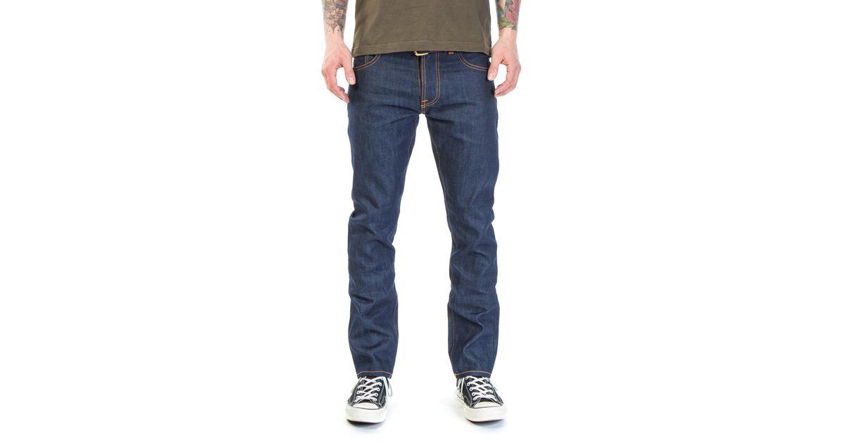 dc9dd487ca45b Lyst - Nudie Jeans Nudie Jeans Dude Dan Dry Cool Rigid 10.5oz in Blue for  Men