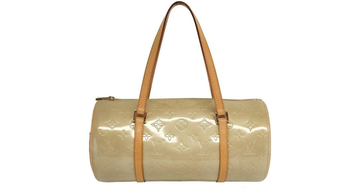 af1bb085d2b56 Louis Vuitton Vernis Bedford Tan Monogram Papillon Handbag - Lyst