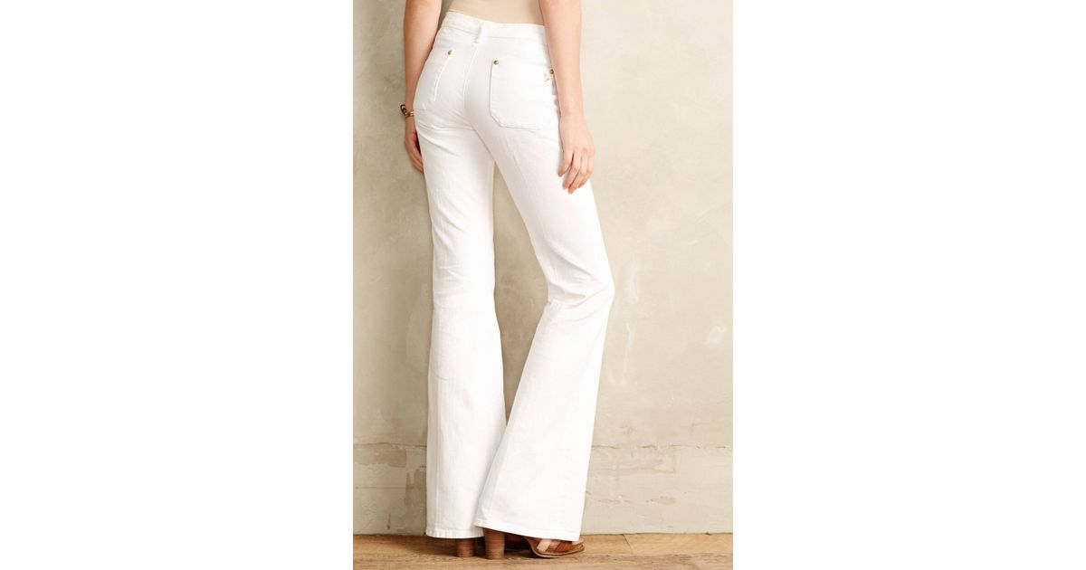 M.i.h jeans Casablanca Petite Flare Jeans in White | Lyst
