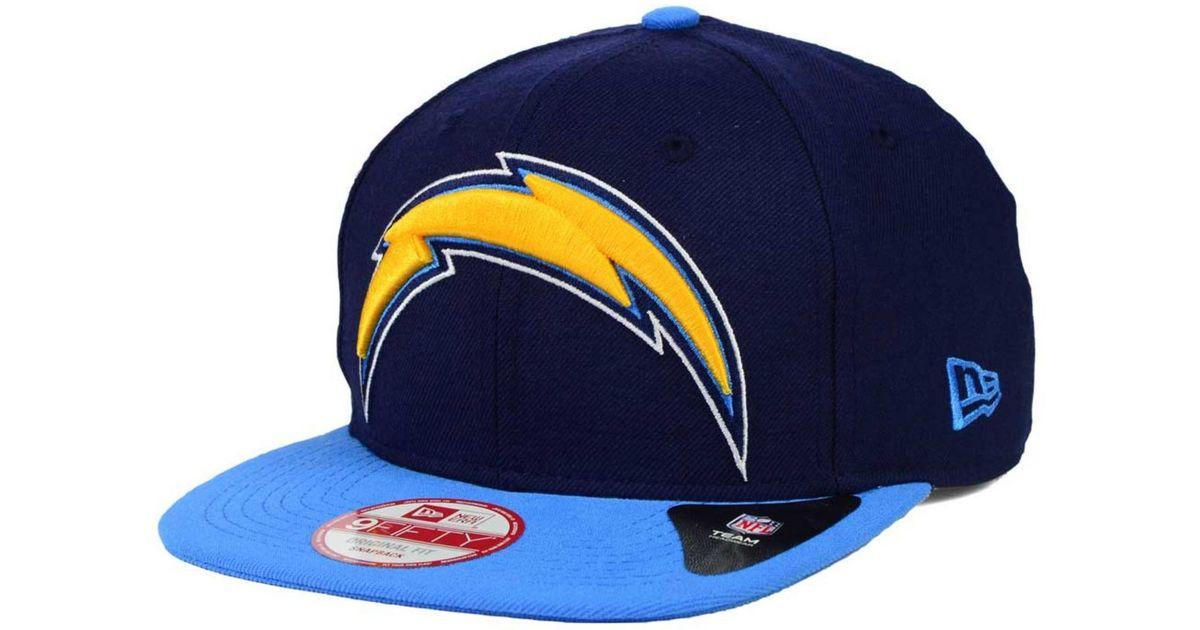 24e6b6881 KTZ Blue San Diego Chargers Classic Xl Logo 9fifty Snapback Cap for men