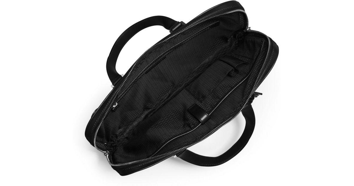 919da96e5 Lyst - Michael Kors Warren Slim Leather Briefcase in Black for Men