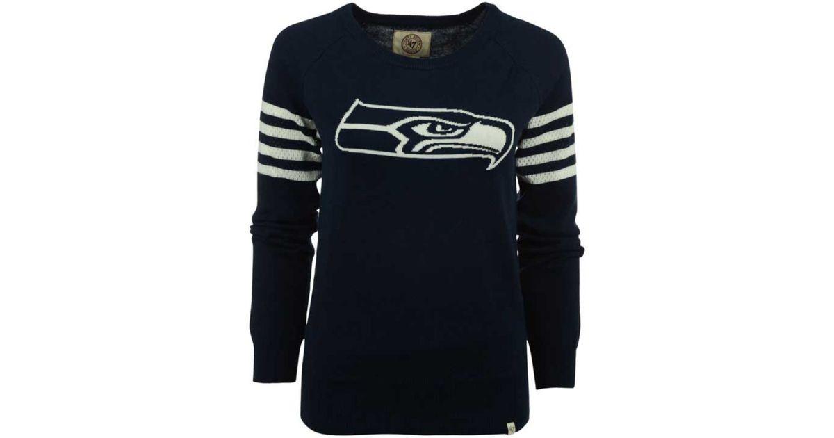 Seahawks Brand Sweater Blue Drop Women's Needle 47 Seattle