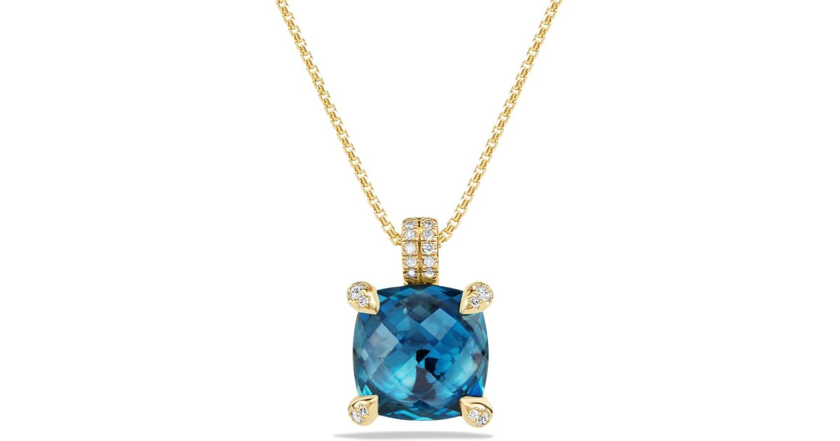 david yurman ch226telaine pendant necklace with hampton blue