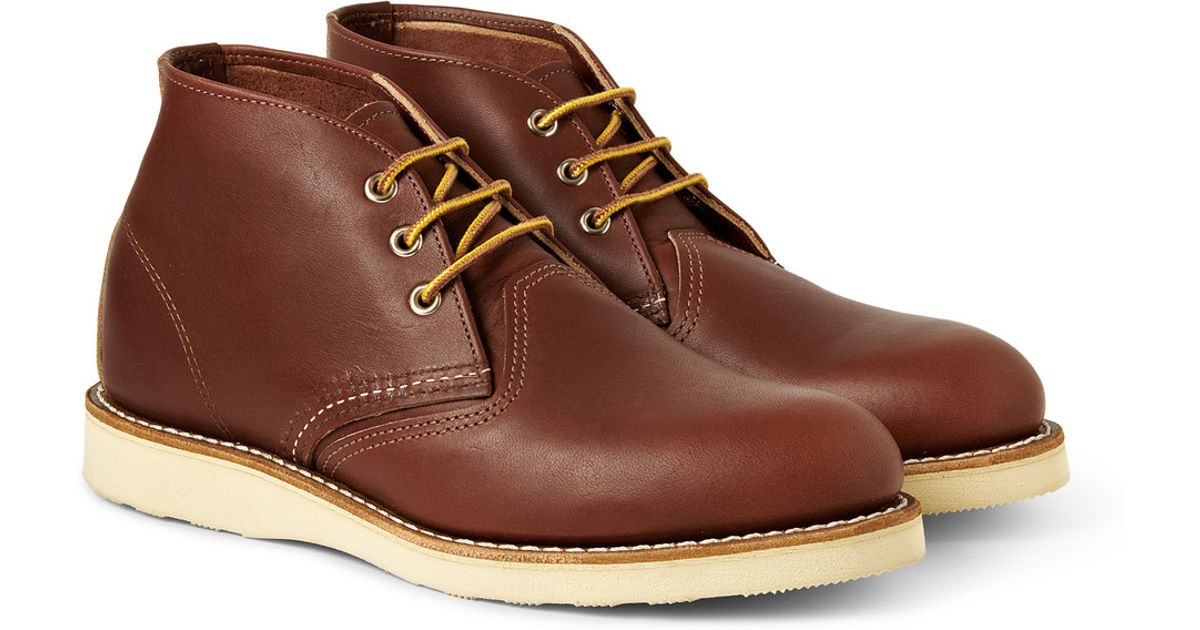 3c3fdbcd32d Red Wing Brown Work Chukka Rubbersoled Leather Boots for men