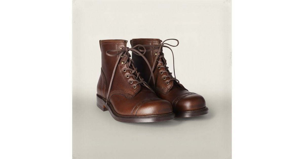RRL Bowery Boot in Brown for Men - Lyst