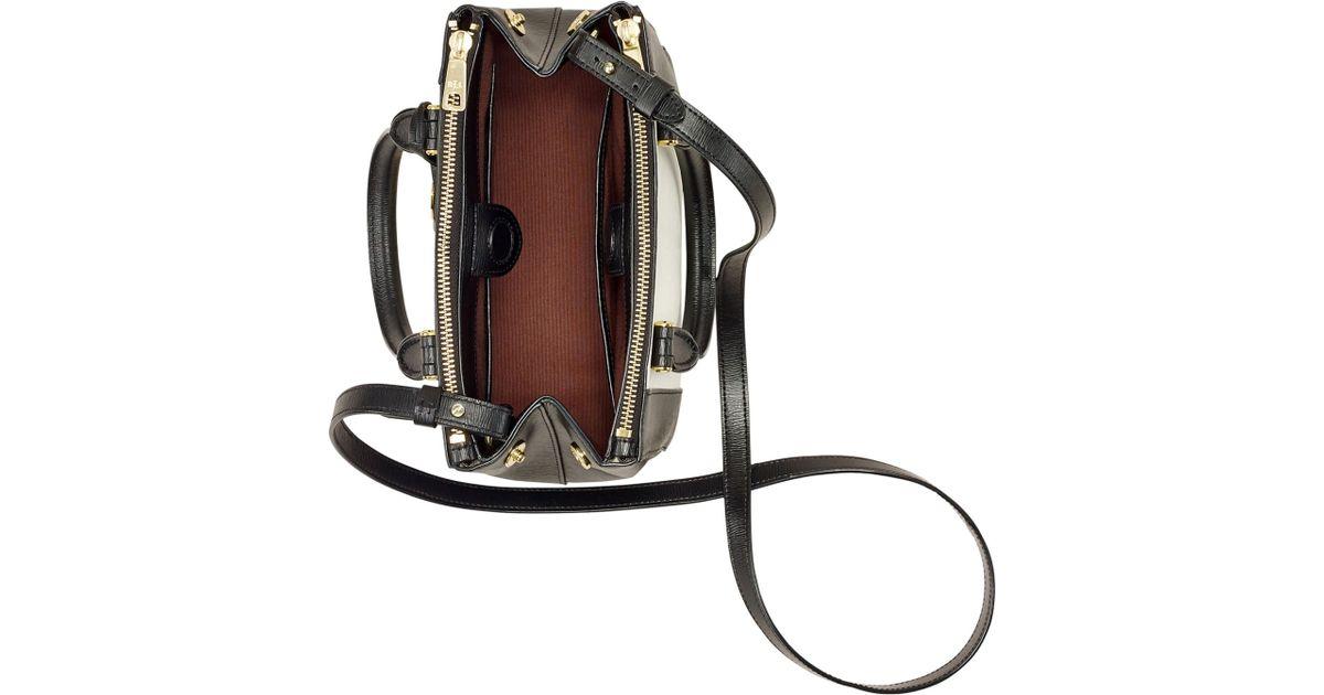 3f5aafee8da Lyst - Lauren by Ralph Lauren Newbury Spectator Mini Double Zip Satchel in  Black