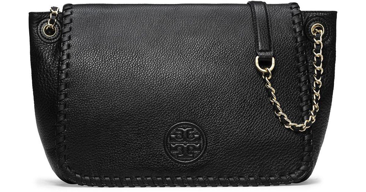 8cd4edfb1af9e Lyst - Tory Burch Marion Flap Shoulder Bag in Black