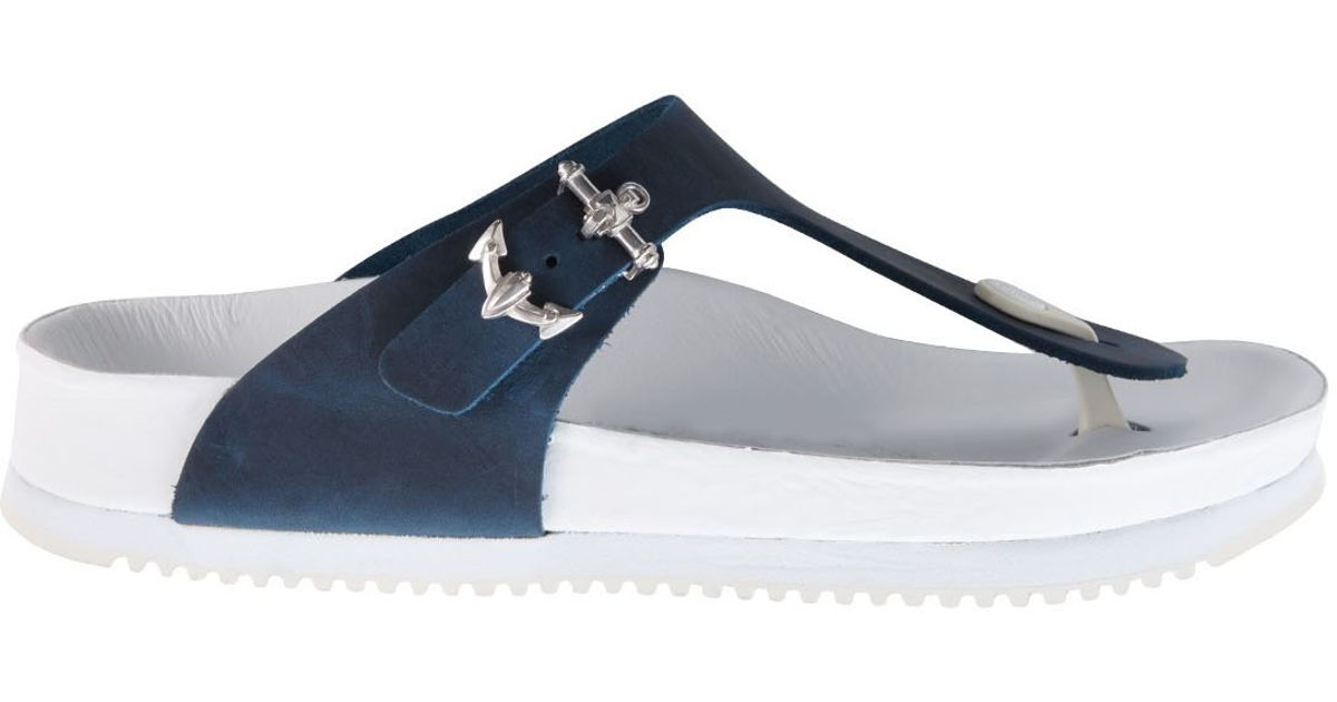5f17081de46 Birkenstock Muff Gizeh Silver Anchor Thong Sandals in Blue - Lyst