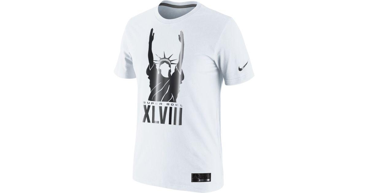 a3672f3c Nike Mens Super Bowl Xlviii Lady Liberty Tshirt in White for Men - Lyst
