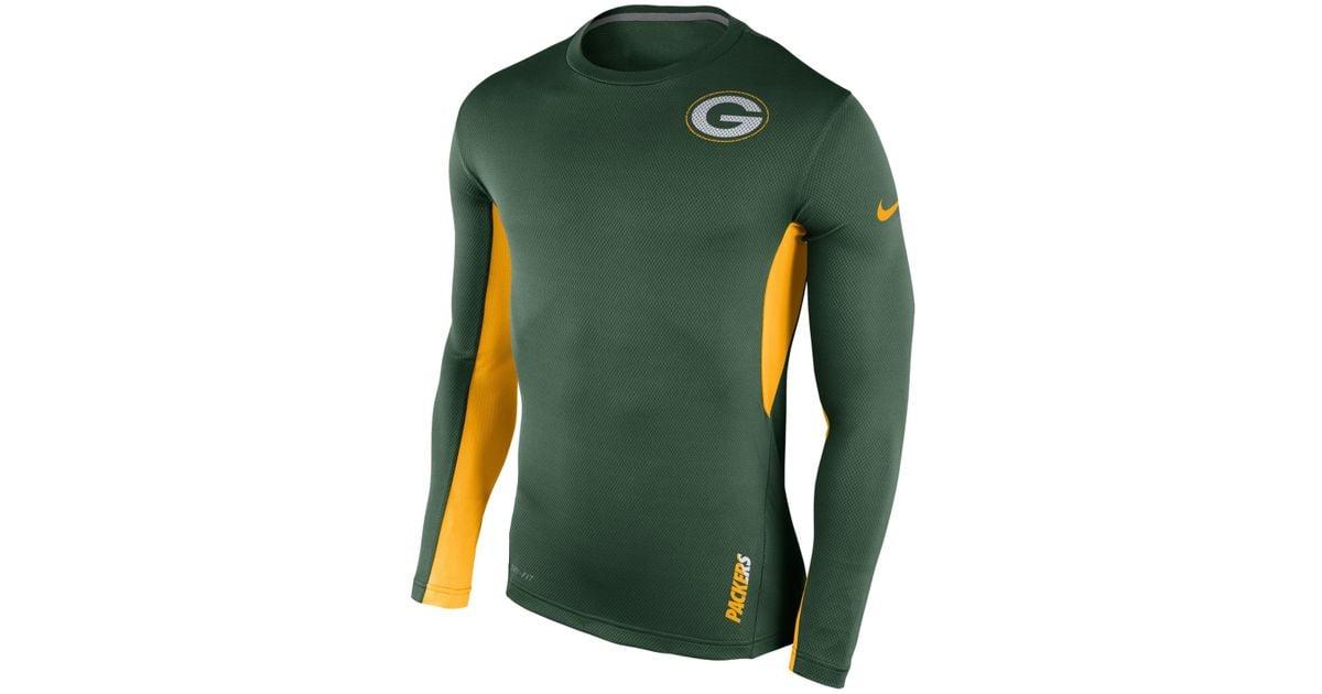 Nike Men's Long-sleeve Green Bay Packers Vapor T-shirt in ...