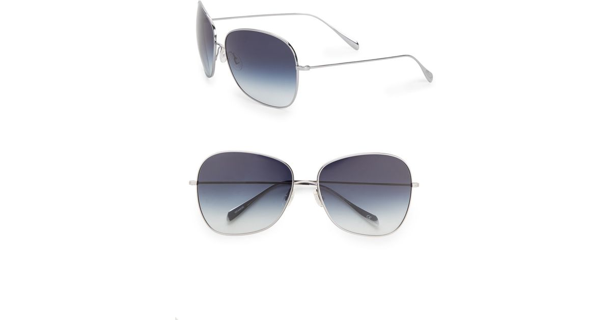 313fce4804 Lyst - Oliver Peoples Elsie 64mm Modified Aviator Sunglasses in Metallic