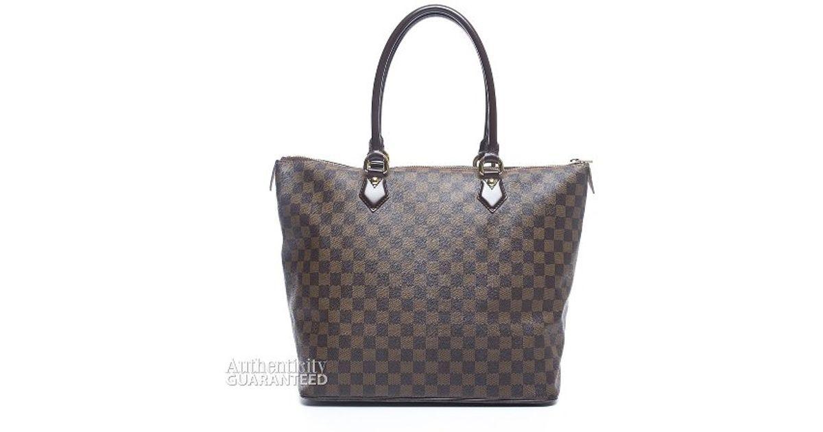 007b625dfdef Louis Vuitton Pre-owned Damier Ebene Saleya Gm Bag in Brown - Lyst
