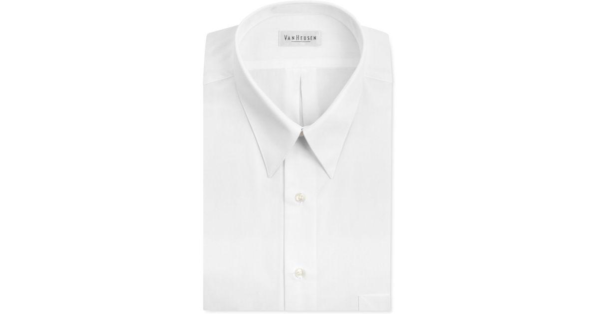 Van Heusen Big And Tall Wrinkle Free Poplin White Solid
