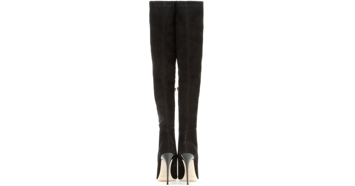 ecd4518e731 Jimmy Choo Black Turner Suede Over-the-knee Boots