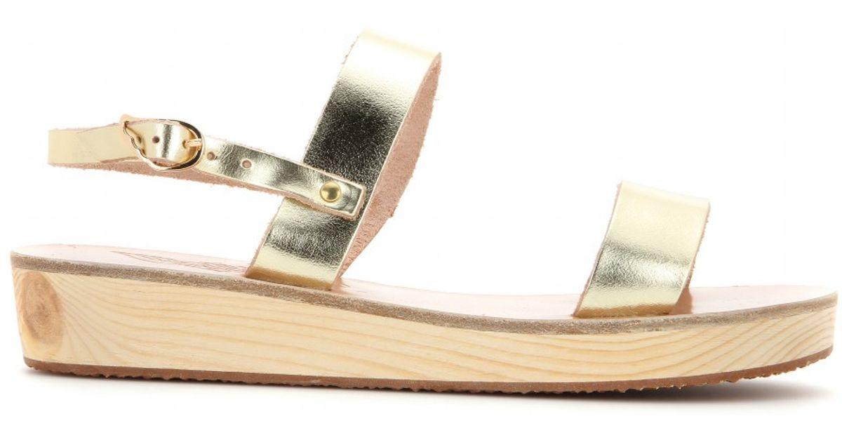 Sandals Leather Metallic Platform Ancient Clio Greek xoCedB