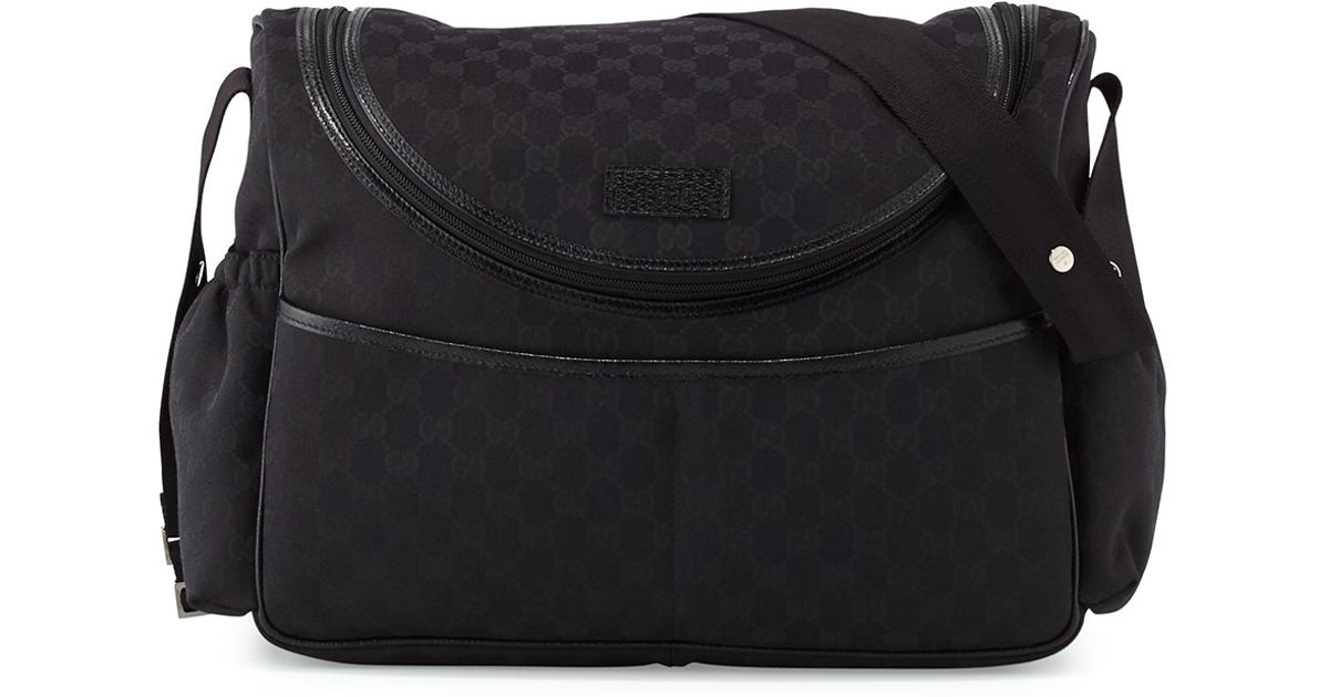 c36777528bc7d5 Gucci Travel Gg Canvas Diaper Bag W/ Changing Pad in Black for Men - Lyst