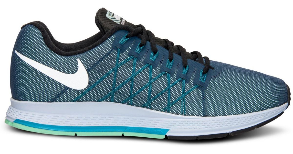 save off 36ecb 4e05e Lyst - Nike Mens Zoom Pegasus 32 Flash Running Sneakers From Finish Line  in Blue for Men